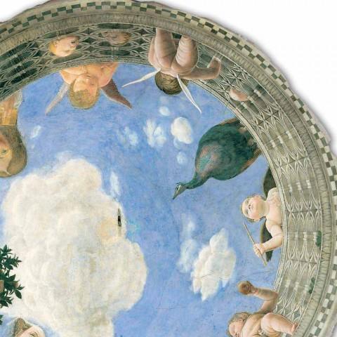"""Fresco Andrea Mantegna """"Oculus me kerubinët dhe dame me pamje"""""""