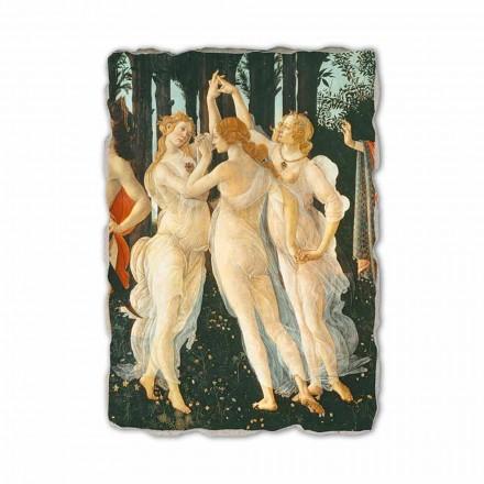 Primavera nga Botticelli, afresk i pikturuar me dorë (detaje)