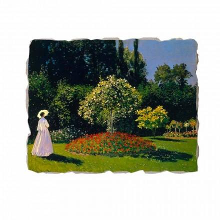 Grua në kopsht nga Claude Monet, afresk i pikturuar me dorë