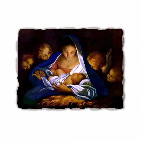 """Fresco punuar me dorë në Itali Carlo Maratta """"Lindja"""" në 1650"""