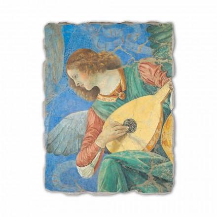 Engjëjt muzikorë nga Melozzo da Forlì, afresk i pikturuar me dorë