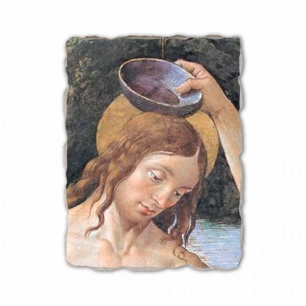 Pagëzimi i Krishtit (detaj) nga Perugino, afresk i pikturuar me dorë