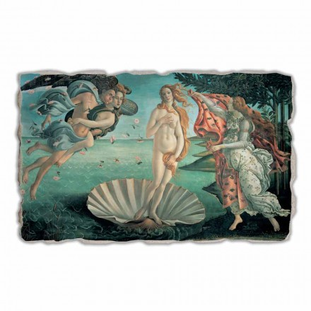 Lindja e Venusit nga Botticelli, afresk i pikturuar me dorë