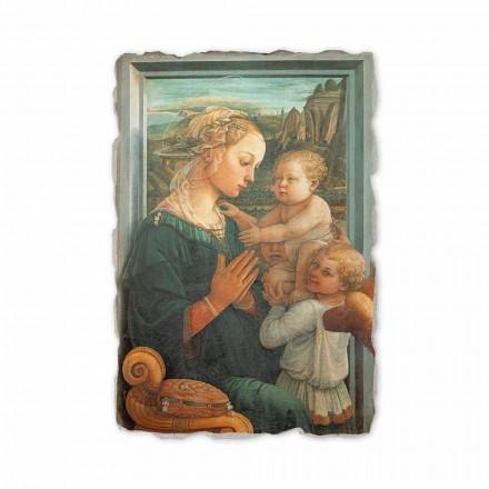 Madona me Fëmijë nga Filippo Lippi, afresk i pikturuar me dorë