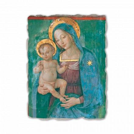Madonna with Child nga Pinturicchio, afresk i pikturuar me dorë