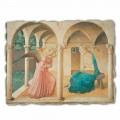 Afreska e Shpalljes nga Fra Angelico, me madhësi të madhe