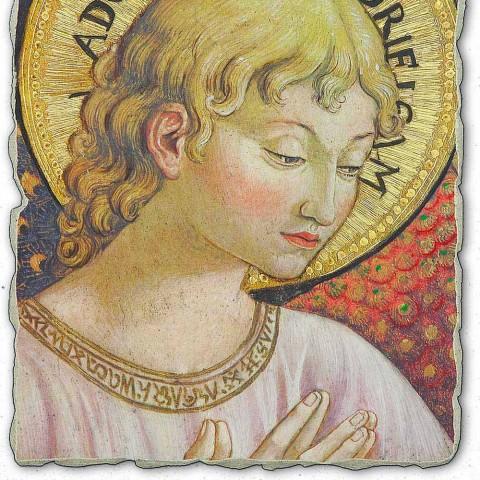 """afresk i shkëlqyeshëm Benozzo Gozzoli """"Koret e engjëjve në adhurim"""""""