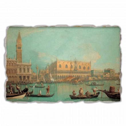 Një pamje e Pallatit Ducal në Venecia nga Canaletto, me madhësi të madhe