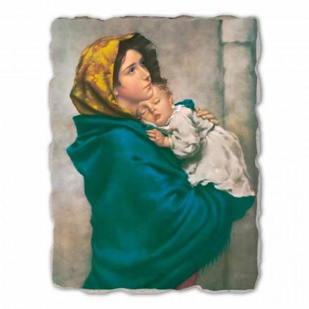 Madonnina nga Ferruzzi, afreska e pikturuar me dorë, me madhësi të madhe