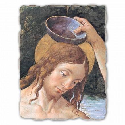 Pagëzimi i Krishtit (detaj) nga Perugino, me madhësi të madhe