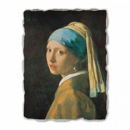 Vajza me një Vath Pearl nga Johannes Vermeer, me madhësi të madhe