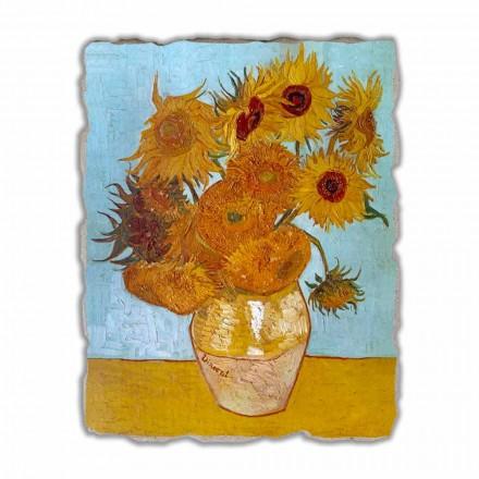Afreska e pikturuar me dorë Luledielli nga Van Gogh, me madhësi të madhe