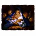Afreska e pikturuar me dorë Lindja e Lindjes nga Carlo Maratta, me madhësi të madhe