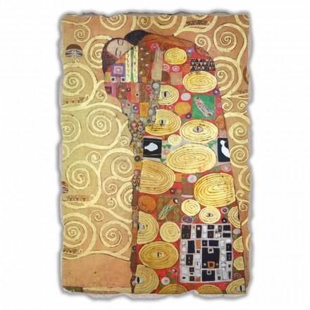 Përmbushja (Përqafimi) nga Gustav Klimt, madhësi e madhe