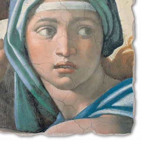 """afresk i madh i bërë në Itali Michelangelo """"Delphic Sibyl"""""""
