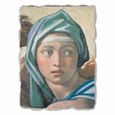 Delphic Sibyl nga Michelangelo, afresk i pikturuar me dorë, me madhësi të madhe