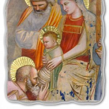 """afresk i madh Giotto """"Adhurimi i Magi"""" i bërë në Itali"""