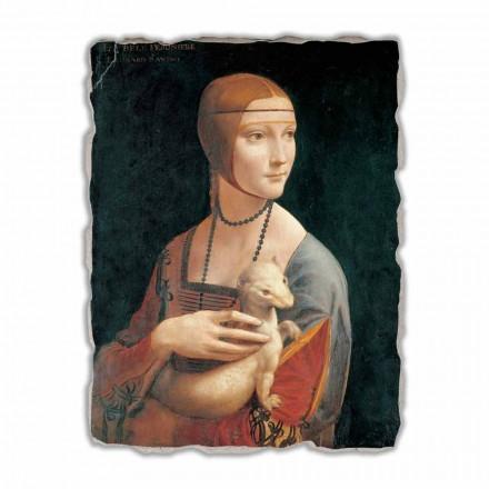 Zonjë me një Ermine nga Leonardo da Vinci, me madhësi të madhe