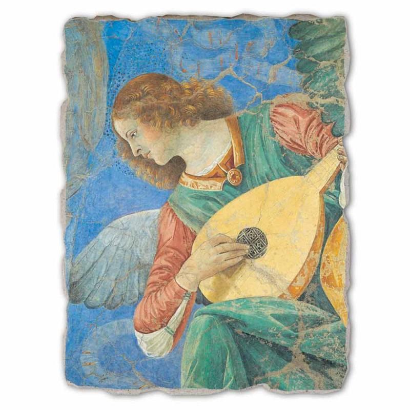 "afresk i shkëlqyeshëm i Melozzo da Forlì ""Angel Musician"""