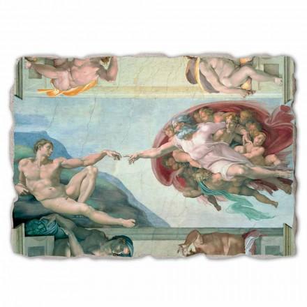 Krijimi i Adamit nga Michelangelo, madhësi e madhe