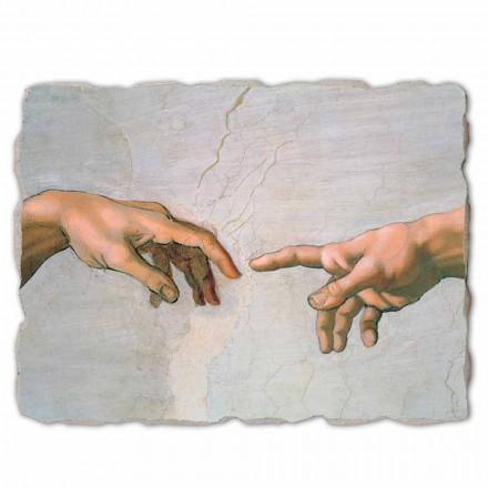 Krijimi i Adamit nga Michelangelo, madhësi e madhe (detaje)