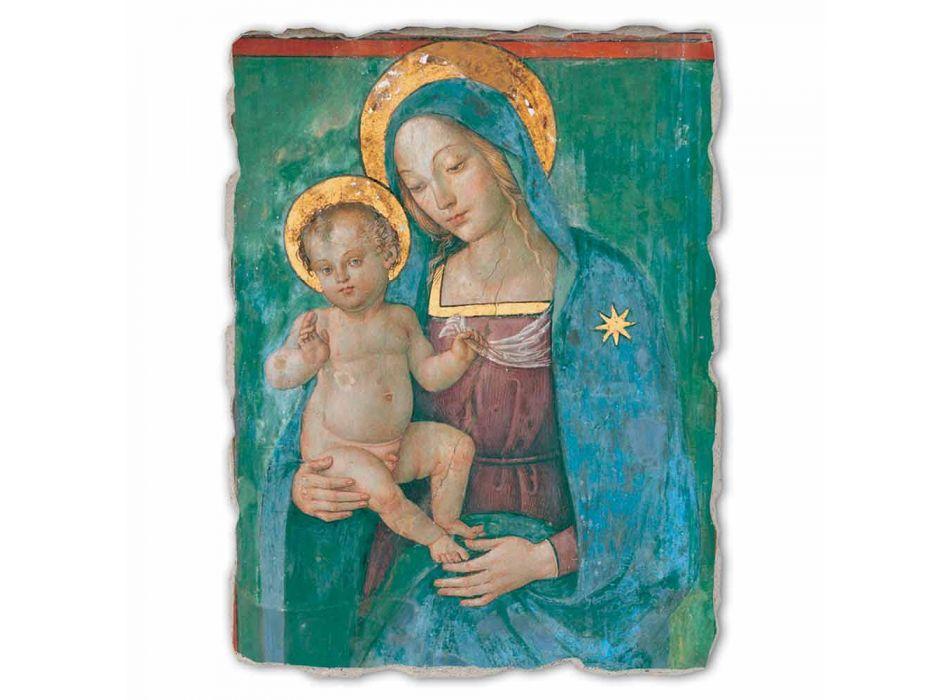 """afresk i shkëlqyeshëm Pinturicchio """"Madonna with Child"""" punuar me dorë"""