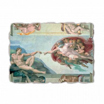 Krijimi i Adamit nga Michelangelo, afresk i pikturuar me dorë