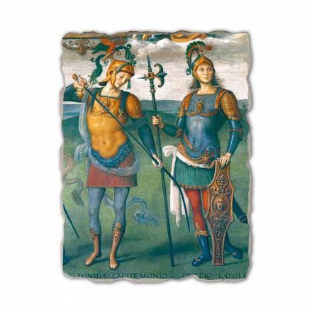 Fortësia, temperamenti dhe gjashtë heronj antikë, afreska italiane