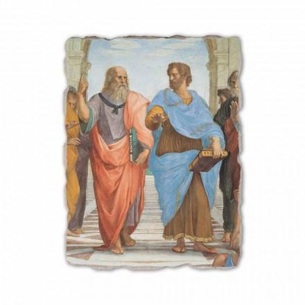 Shkolla e Athinës nga Raphael, afresk i pikturuar me dorë