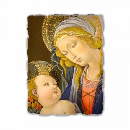 Madona e Librit nga Botticelli, afresk i pikturuar me dorë