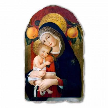 Madonna with Child nga Carlo Crivelli, afresk i pikturuar me dorë