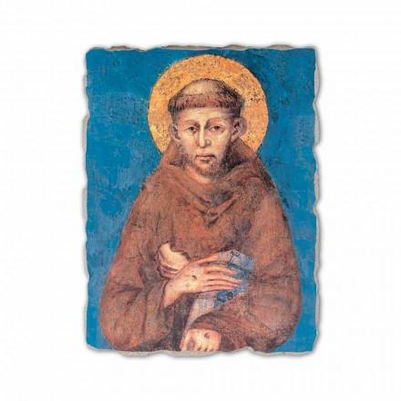 Shën Françesku i Asizit nga Cimabue, afresk i pikturuar me dorë