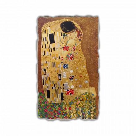 Puthja nga Gustav Klimt, afresk i pikturuar me dorë