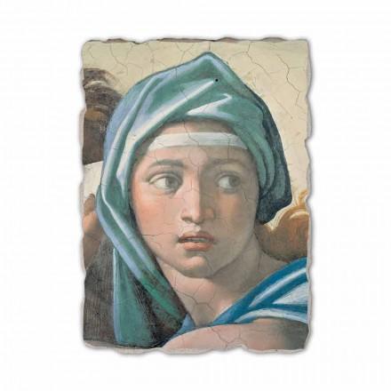 Delphic Sibyl nga Michelangelo, afresk i pikturuar me dorë