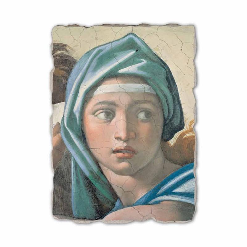 "Riprodhimi i afreskut Michelangelo ""Delphic Sibyl"""