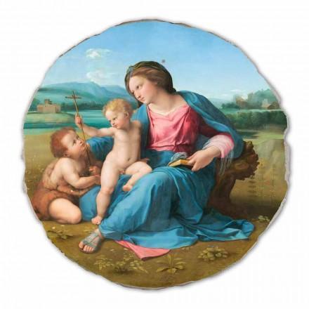 Alba Madonna nga Raphael, afresk i pikturuar me dorë