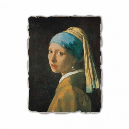 Vajza me një Vath Pearl nga Johannes Vermeer, e bërë në Itali