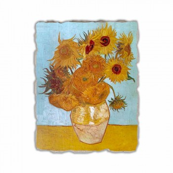 """Riprodhimi i Freskos """"Vazo luledielli"""" të Vincent Van Gogh"""