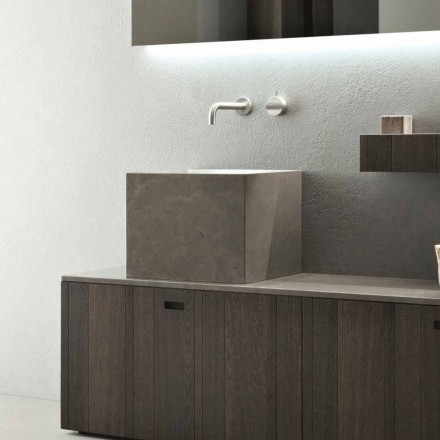 Lavaman Countertop Sheshi i Lartë në Gurë me Dizajn Modern - Farartlav1