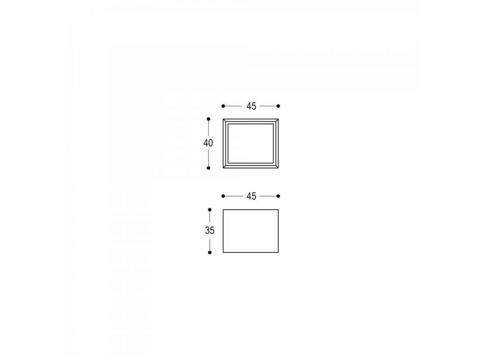 Banjë me gurë të larë me shesh katror të projektimit modern - Farartlav1