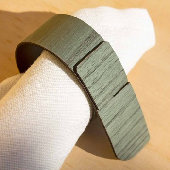 Unaza e pecetë unazë në dru dhe pëlhura të bëra në Itali - Abraham