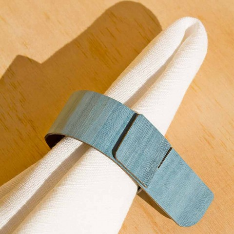 Unaza me peceta prej pëlhure me dizajn modern të bërë në Itali - Stan
