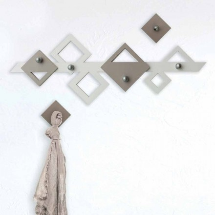 Veshje muri prej druri të bardhë dhe ngjyrë bezhë Dizajn gjeometrik modern - Klimt