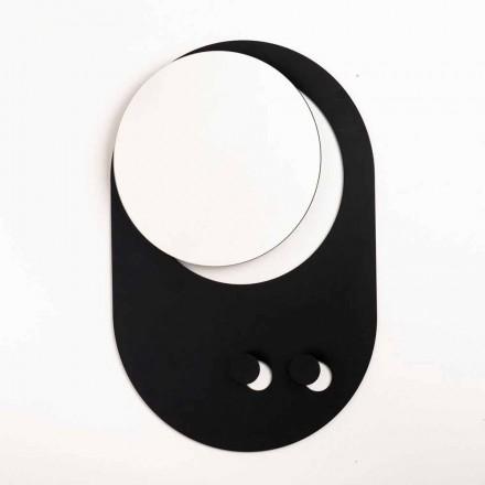 Mbështjellëse Moderne e Veshjeve të Murit në Çelik me Pasqyrë Prodhuar në Itali - Pilippo