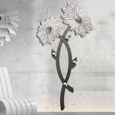 Raft pallto muri Clarke, ngjyra argjendi, dizajn modern