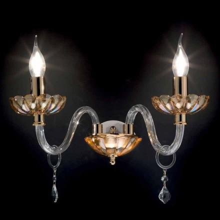 Dizajn klasik 2-dritë mprehtësi muri Belle, e bërë nga qelqi dhe kristali
