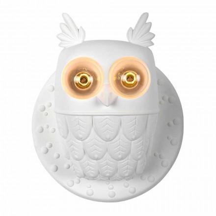 Dritat e Dritave në Dritat e Murit 2 në Owl me Qeramikë të Bardhë Mat të Bardhë - Buf