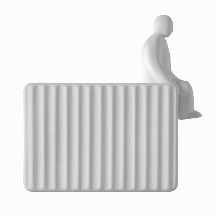 Sconce në Mur me 3 Dritat e Led në Qeramikë të Bardhë Matt me Umarell - Ometto