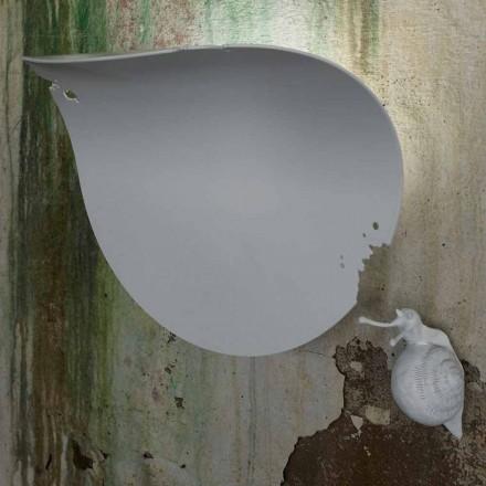 Dizajni Sconce Wall Leaf në Qeramikë të Bardhë dhe Kërmill - Dekorimi i Kërmillit