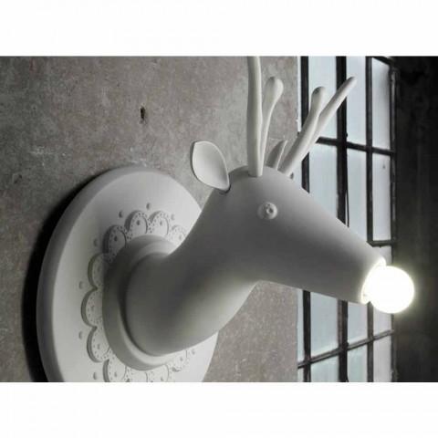 Aplikacion muri në dizajn modern qeramik Matt White në Cervo - Memento